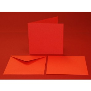 "6x6"" Cards & Envelopes Red (5 Pack)"