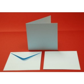 "6x6"" Cards & Envelopes Light Blue (5 Pack)"