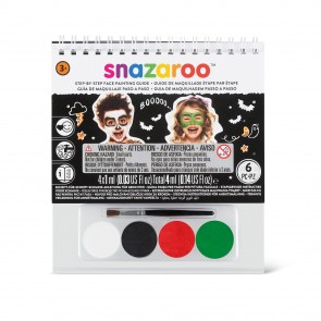 Face Paint Booklet A6 Clip Strip Halloween (12 Pack)