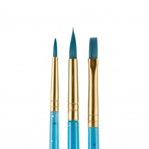 Blue Starter Brushes - Set of 3
