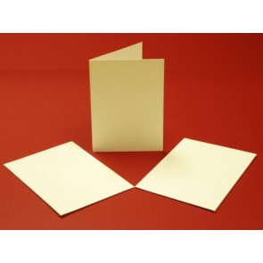 A5 Hammered Cards & Envelopes Ivory (10 Pack)