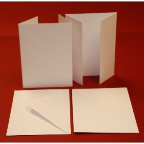 A6 Hammered Cards & Envelopes Wardrobe White (10 Pack)