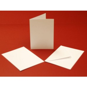 A6 Cards & Envelopes White (10 Pack)