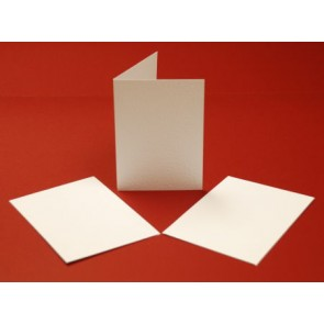 A5 Hammered Cards & Envelopes White (10 Pack)