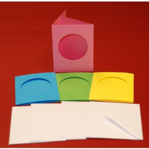 A7 Cards & Envelopes Tri-Fold Circle Aperture Bright (4 Pack)