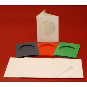 A7 Cards & Envelopes Tri-Fold Circle Aperture Dark (4 Pack)