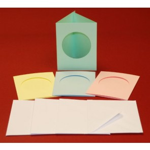 A7 Cards & Envelopes Tri-Fold Circle Aperture Pastel (4 Pack)