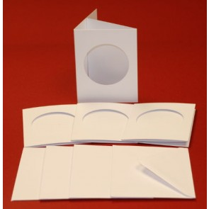 A7 Cards & Envelopes Tri-Fold Circle Aperture White (4 Pack)