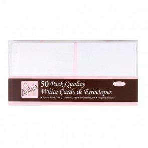 Square Cards/Envelopes (50pk) - White