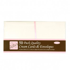 Square Cards/Envelopes (50pk) - Cream