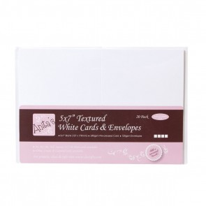"5 x 7"" Cards/Envelopes Textured (20pk, 240gsm) - White"