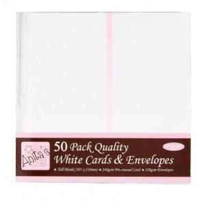 Tall Cards/Envelopes (50pk) - White
