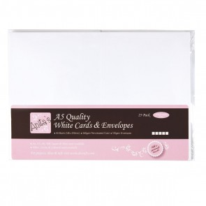 A5 Cards/Envelopes (25pk) - White