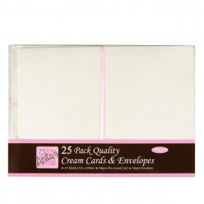 A5 Cards/Envelopes (25pk) - Cream