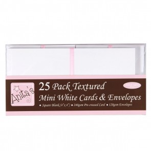 "4 x 4"" Cards/Envelopes (25pk) - White"