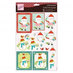 Foiled Decoupage - Merry Santa