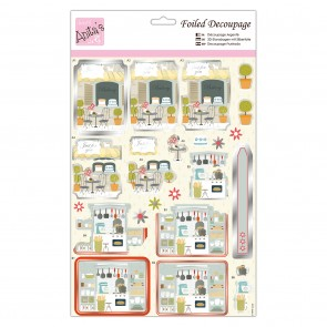 Foiled Decoupage - Bistro and Bakery