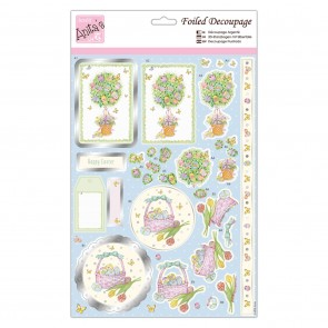 Foiled Decoupage - Egg Hunt