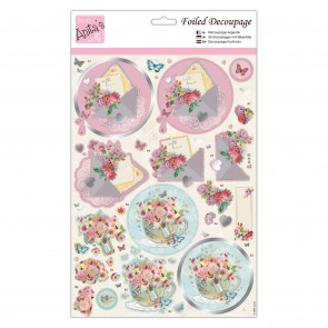 Foiled Decoupage - Blooming Mail
