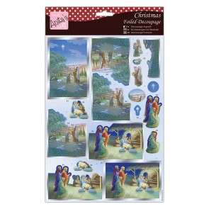 Foiled Decoupage - Nativity Scene