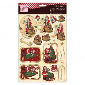 Foiled Decoupage - Santa's List
