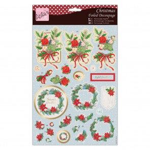 Foiled Decoupage - Seasonal Wreath