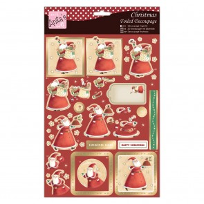 Foiled Decoupage - Christmas Cheer