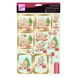 Foiled Decoupage - Beary Merry Christmas