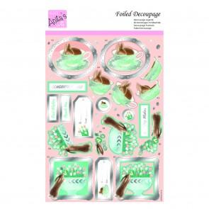 Foiled Decoupage - Tea Cup Bunny