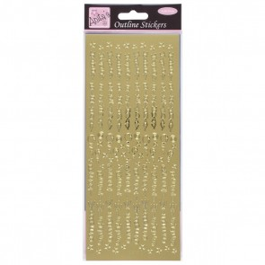 Outline Stickers - Birthday Best Wishes - Gold