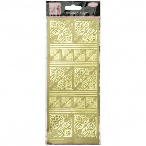 Outline Stickers - Celtic Heart Corners - Gold