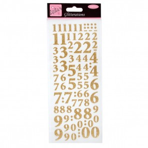 Glitterations - Numbers - Gold
