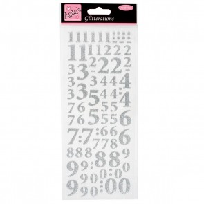 Glitterations - Numbers - Silver