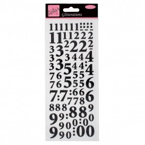 Glitterations - Numbers - Black