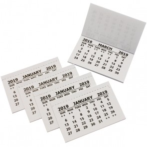 2019 Calendar Tabs Insets Pads (50 Pack)