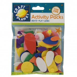 Crafty Foam (75pcs) - Shapes - Assorted Colours