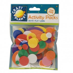 Crafty Foam (75pcs) - Circles - Assorted Colours