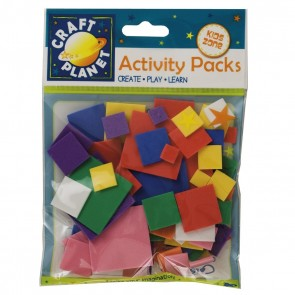Crafty Foam (75pcs) - Squares - Assorted Colours