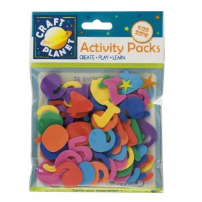 Crafty Foam (8pk) - Numbers - Assorted Colours (25mm)