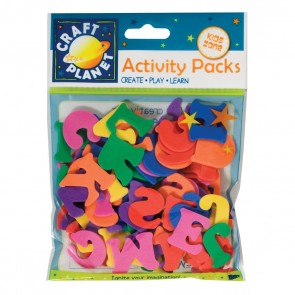 Crafty Foam - Letters (3 Sets) - Assorted Colours (25mm)