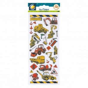 Fun Stickers - Construction Site Vehicles