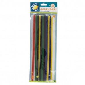 Chenille Stems (20pk) - 6 Vivid Colours (300mm)