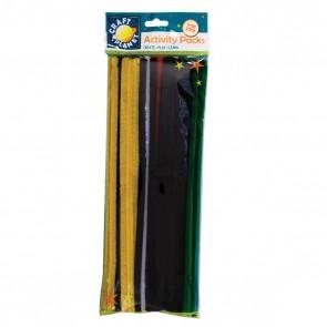 Chenille Stems (60pk) - 6 Vivid Colours (300mm)