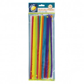 Chenille Stems (20pk) - 6 Neon Colours (300mm)