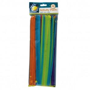 Chenille Stems (60pk) - 6 Neon Colours (300mm)