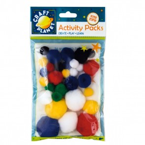 Pompoms (30pk) - Assorted Colours