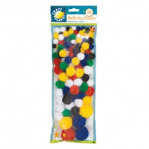Pompoms (100pk) - Assorted Colours