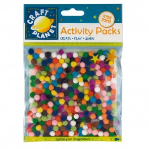Pompoms (9g, 7mm Diameter) - Assorted Colours