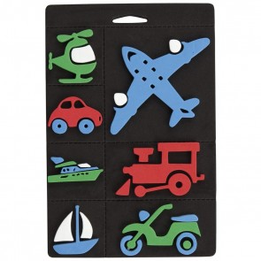 Foam Stamp Set - Trains Planes & Transport