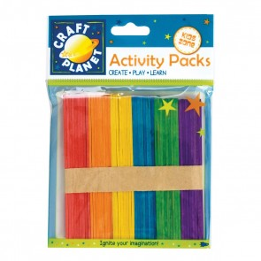 Lollipop Sticks (approx. 50pcs) - Assorted Colours